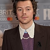 Harry Styles at the 2020 BRIT Awards in London