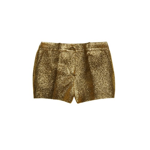 Who wears short shorts? Show off your sexy stems in these Michael Kors Metallic Brocade Shorts ($795).