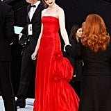 Anne Hathaway in vintage Valentino couture