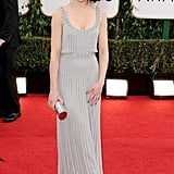 Tatiana Maslany arrived at the Golden Globe Awards.