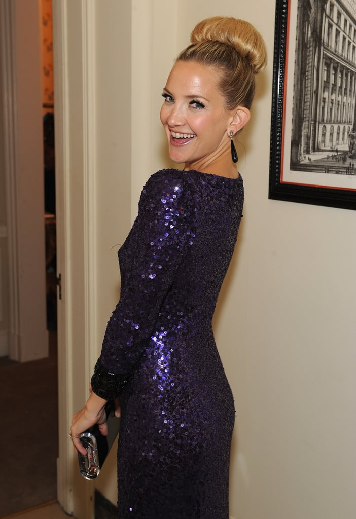 Kate Hudson posed in her sequin dress.