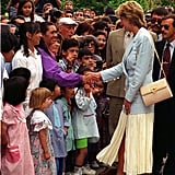 Princess Diana Carrying Her Lady D Salvatore Ferragamo Bag