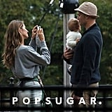 Gisele Bündchen snapped photos of her husband and daughter.