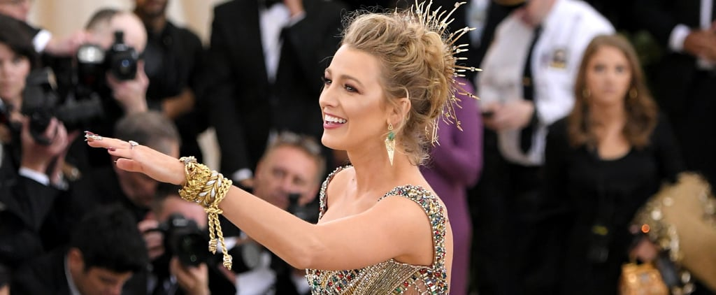 Blake Lively Pointing at Photographers at the 2018 Met Gala