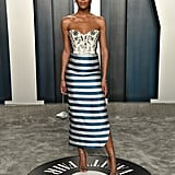 Laura Harrier at the Vanity Fair Oscars Afterparty 2020