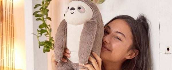 Heatable Sloth Plushie From Urban Outfitters