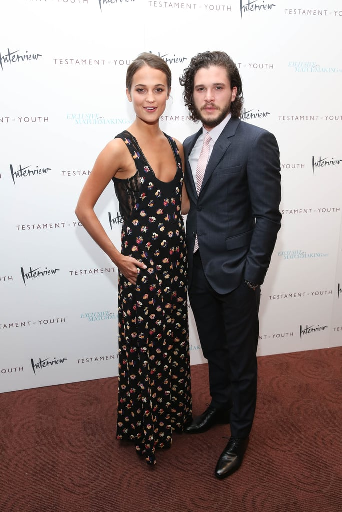 Vikander with her Testament of Youth costar Kit Harington. Vikander's own journey took some time. She found her first big film role in the 2009 Swedish-language film Pure, and later, she made an English-speaking debut in 2012's Anna Karenina. Her role as the Queen of Denmark and Norway in 2012's A Royal Affair, which was nominated for the best foreign film Academy Award, was a game-changer.  Now, Vikander even considering a film makes headlines; her recent flirtation with the Tom Hanks project The Circle caused a stir, especially when she dropped out to reportedly accept parts in Assassin's Creed with Michael Fassbender and the next Bourne movie with Matt Damon.  A former ballerina, Vikander has the discipline to focus on her work despite the trappings of an increasingly successful film career. One side effect is, of course, increased attention.