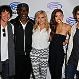 Pictured: Bob Morley, Isaiah Washington, Eliza Taylor, Lindsey Morgan, and Devon Bostick.