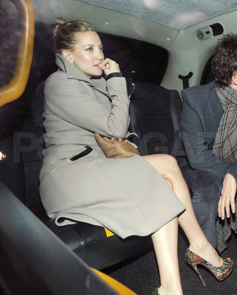 Parents-to-Be Kate Hudson and Matthew Bellamy Have a London Dinner Date