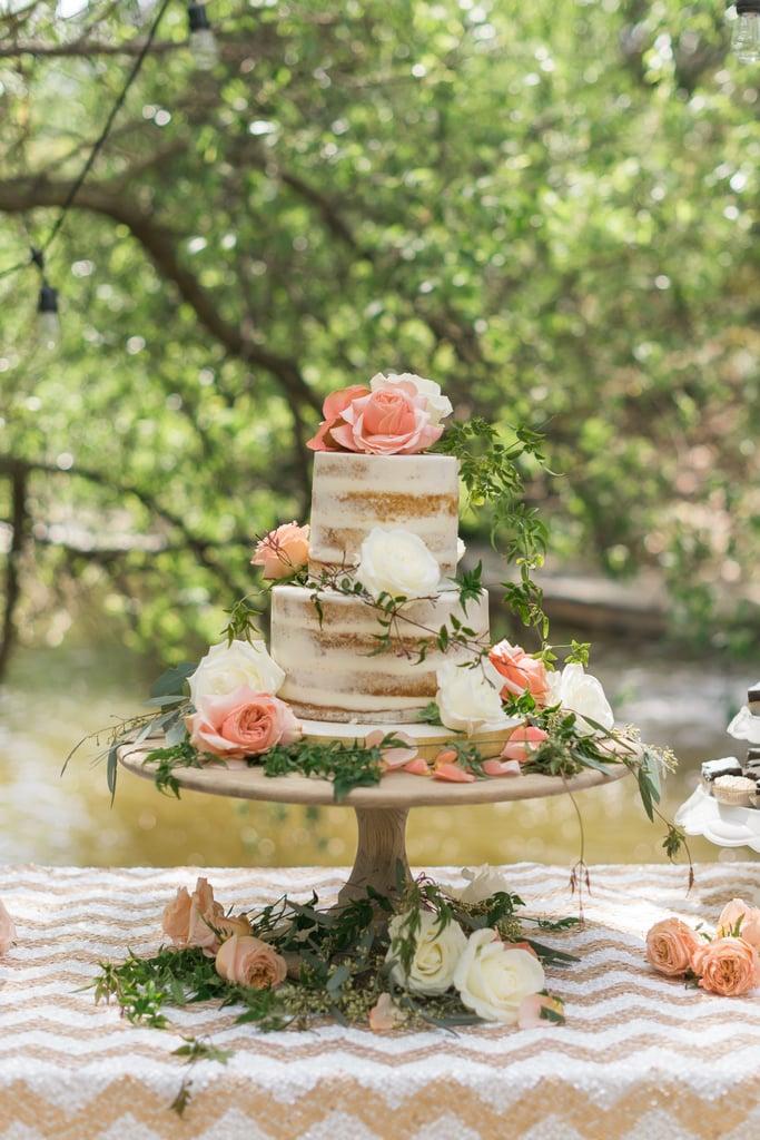 Naked Rose Cake