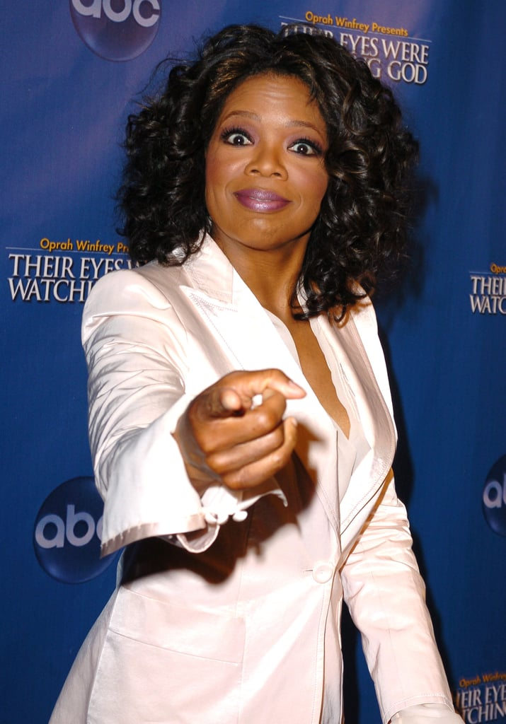 Oprah was pointy at the 2005 premiere of Their Eyes Were Watching God.