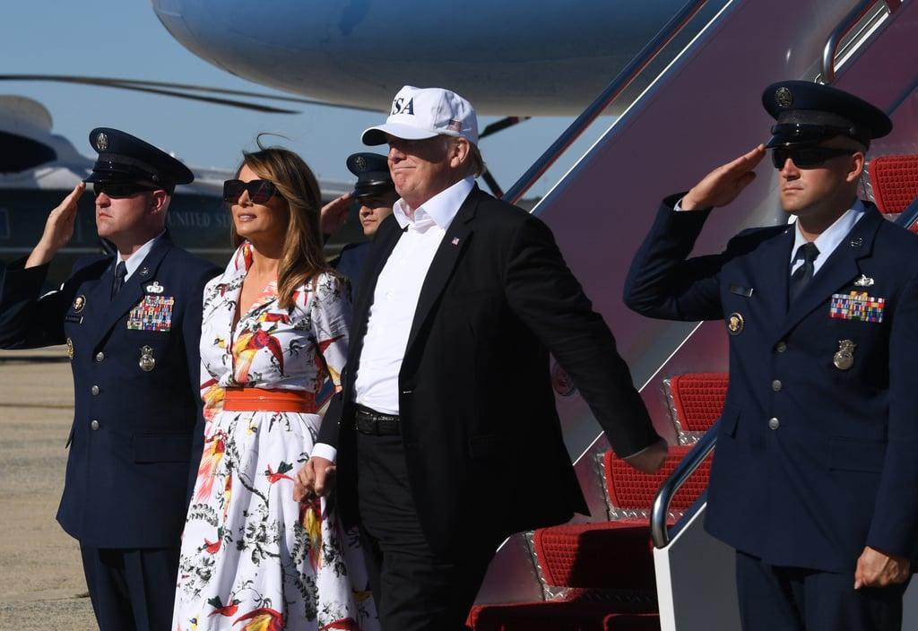 Melania Trump's Kasia Parrot Print Dress