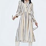 Zara Belted Striped Dress