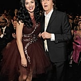 Katy Perry shared a laugh with Paul McCartney.