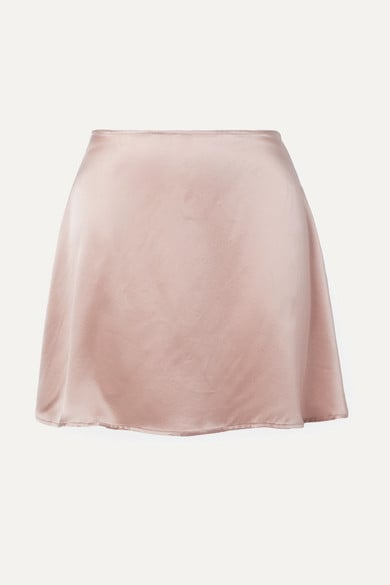 Reformation - Benson silk-satin mini skirt