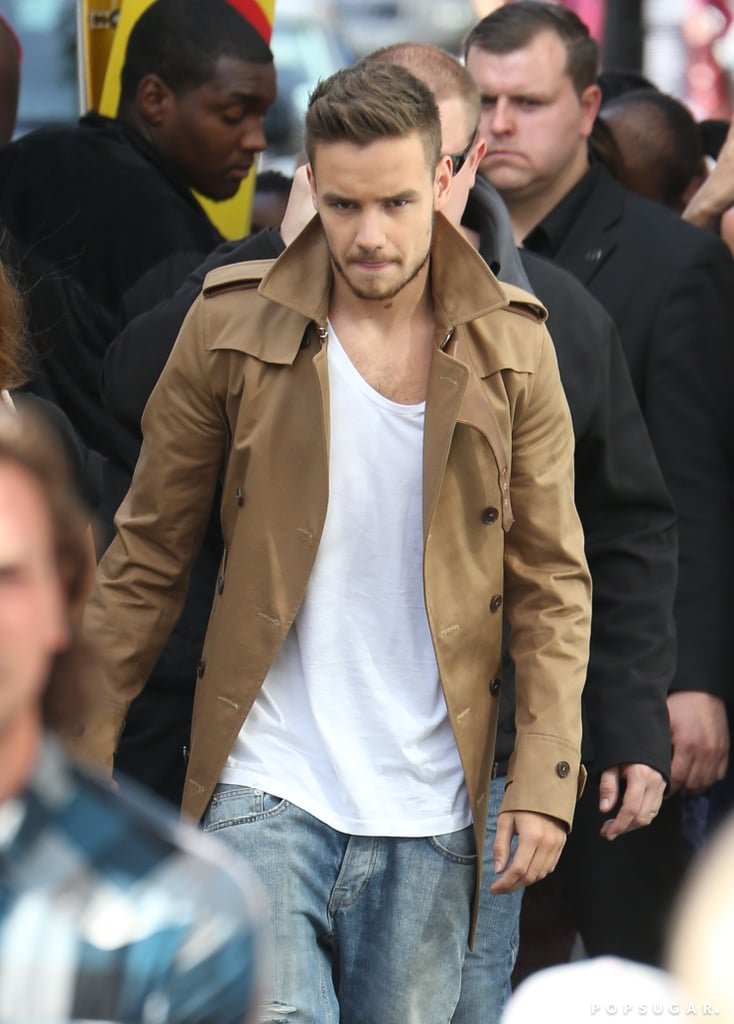 Liam Payne spent his birthday shooting a music video in London.
