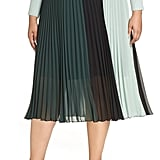 Halogen x Atlantic-Pacific Colorblock Pleated Midi Skirt