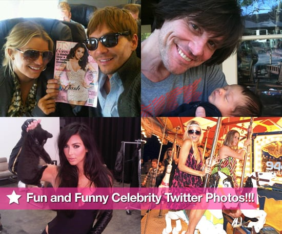 Kim Kardashian, Paris Hilton, Jim Carrey, and Jessica Simpson in This Week's Fun and Funny Celebrity Twitter Photos!