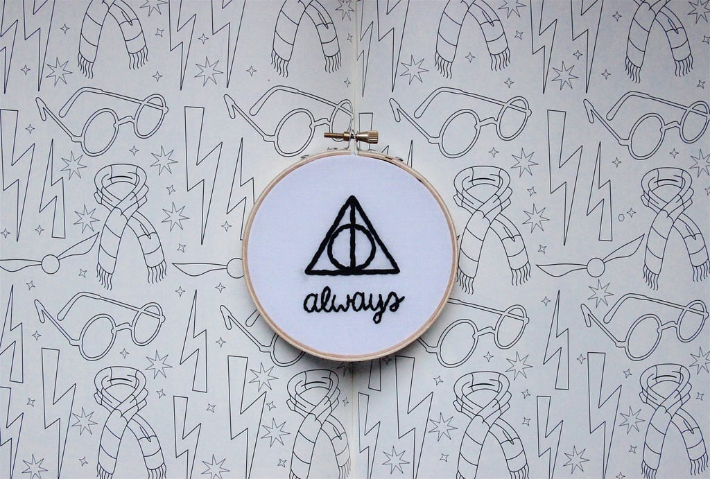 Deathly Hallows Embroidery Hoop ($18)