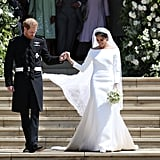 Meghan Markle Stunned in a Minimalist Wedding Gown by Givenchy