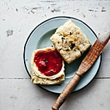 Cheddar and Thyme Scones With Tomato Jam