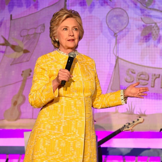 Hillary Clinton's Yellow Tweed Coat
