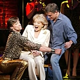 Matt Damon and Barbara Walters joined Hugh Jackman on stage during his final performance of The Boy From Oz in September 2004.