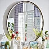 Pier 1 Simple Galvanized Round Mirror