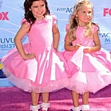 Sophia Grace Brownlee and Rosie McClelland at the Teen Choice Awards.