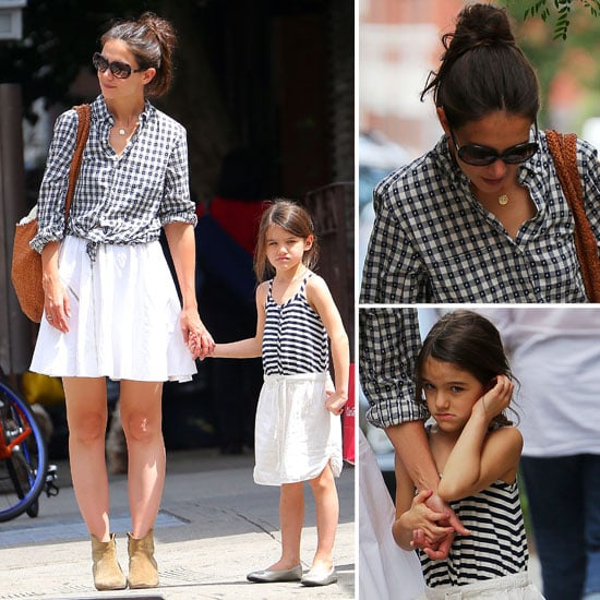 Katie Holmes and Suri Cruise In Matching Mother/Daughter Outfits on the Street in New York City: Steal Their Coordinating Style