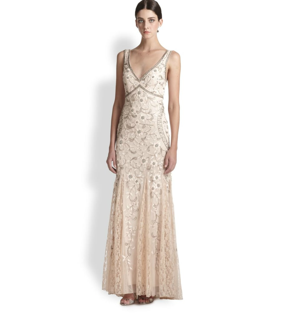 5484ea340efd6 Sue Wong Beaded & Floral Embroidered Tulle Gown | Bohemian Wedding ...