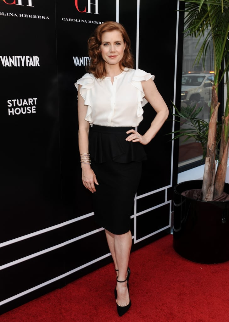 Amy Adams stepped out for the opening of her pal Carolina Herrera's new boutique in LA.