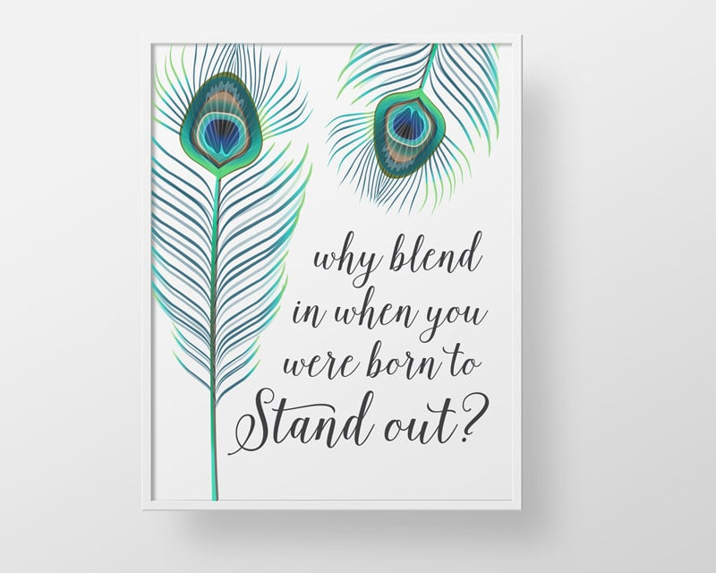 Peacock Feather Quote