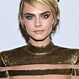 Cara Delevingne's Shaggy, Bright Blond Pixie, 2018