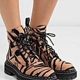 Proenza Schouler Tiger-Print Calf Hair Ankle Boots
