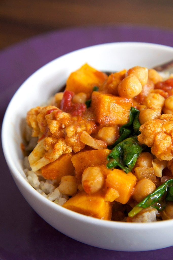 Chickpea Coconut Curry with Sweet Potatoes