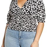 Leith Plus Size Floral Smocked Top