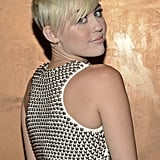 Miley Cyrus wore a studded top for the gala in LA.