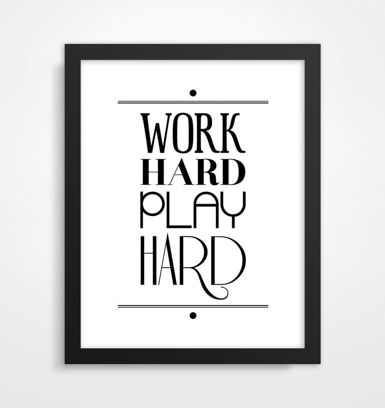 Sure, it's a cliché by now, but we couldn't agree more with this typography poster ($18).