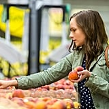 "<a href=""https://www.popsugar.com/career/What-Fruits-Vegetables-Season-24906289"">Buy in-season produce to save.</a>"