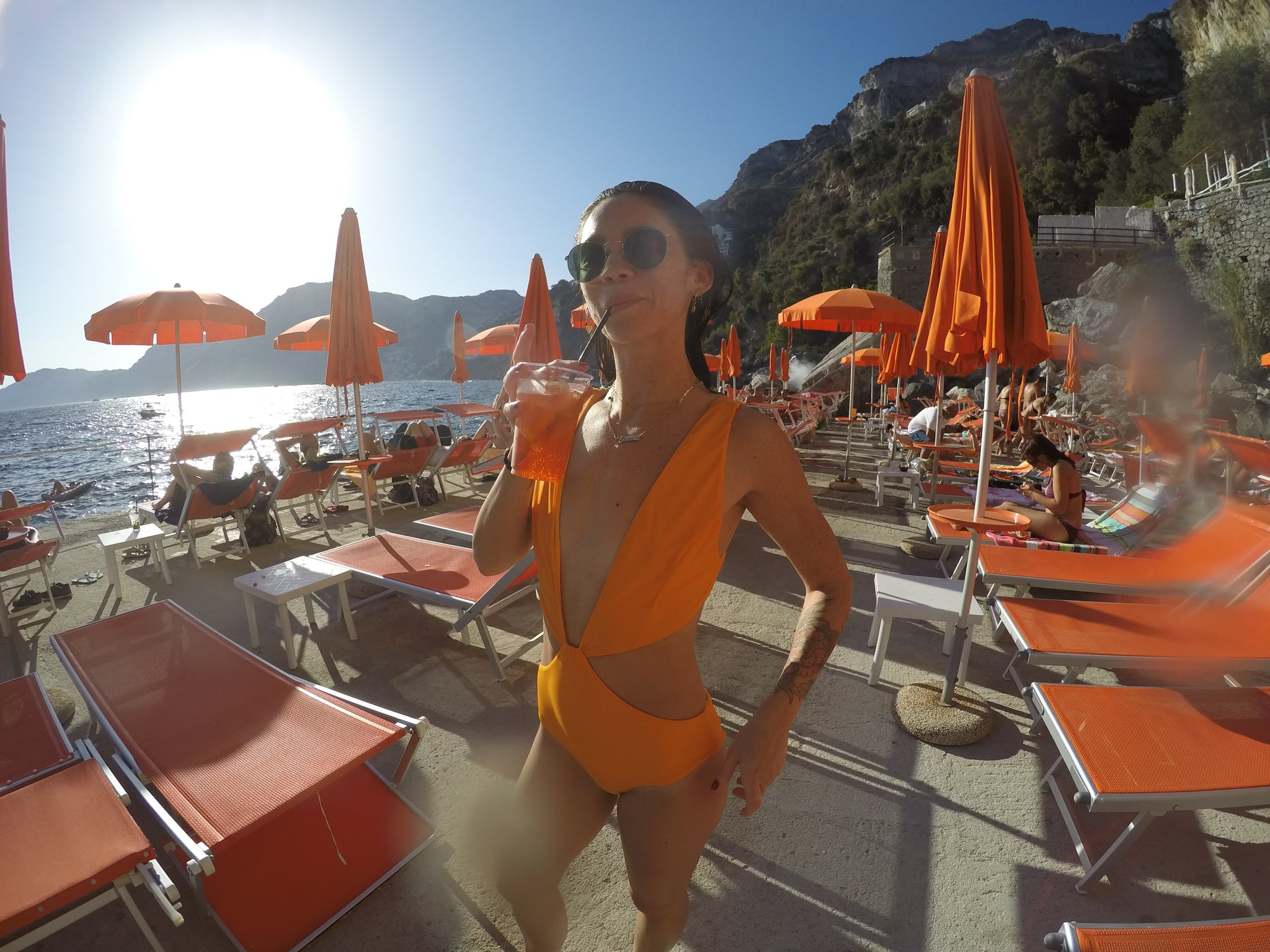 Emma Chow On One Fire Beach Amalfi Coast Italy Popsugar