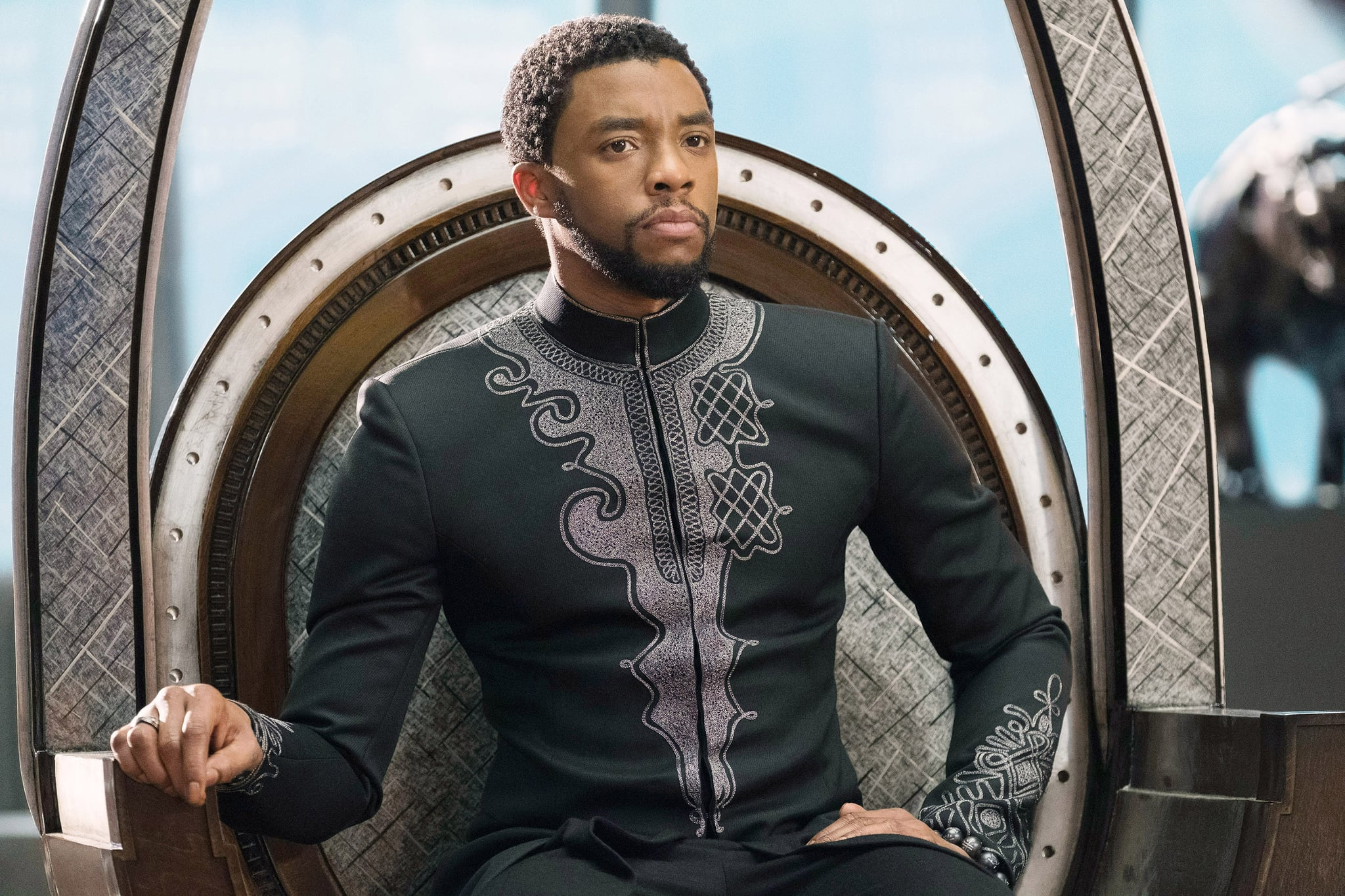 BLACK PANTHER, Chadwick Boseman, 2018. ph: Matt Kennedy / Marvel /  Walt Disney Studios Motion Pictures /Courtesy Everett Collection