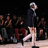 Tommy Hilfiger walked the runway after his show.