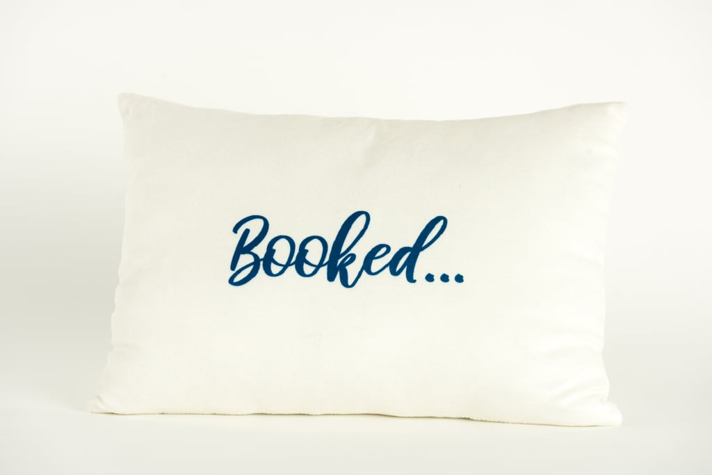 Disney Princess X POPSUGAR Belle Booked For the Weekend Decor Pillow