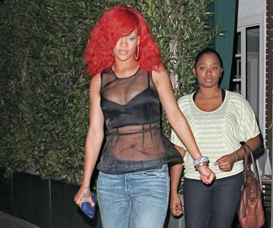 Slide Picture of Rihanna Dining Out in LA
