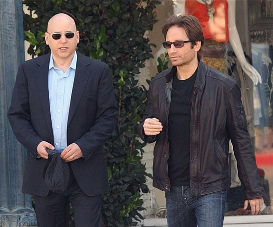 Photo of David Duchovny and Evan Handler Filming Californication in LA