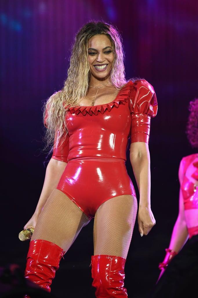Beyonce Sneezing in Concert