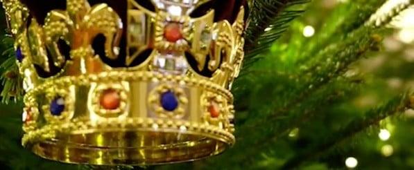 Christmas Trees at Buckingham Palace
