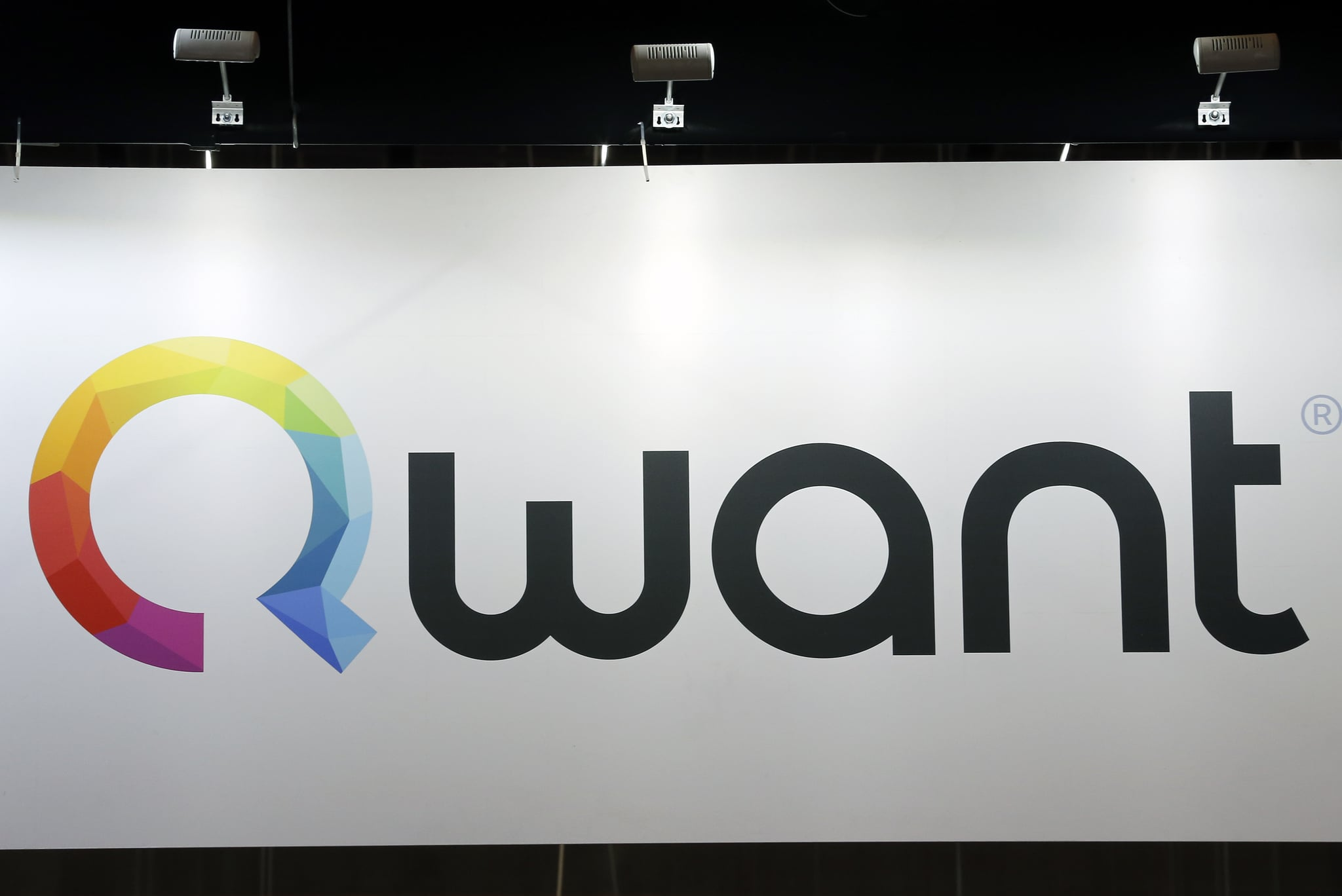 PARIS, FRANCE - JUNE 16:  A Qwant logo is displayed during the Viva Technology show on June 16, 2017 in Paris, France. Viva Technology, the new international event brings together 5,000 startups with top investors, companies to grow businesses and all players in the digital transformation who shape the future of the internet.  (Photo by Chesnot/Getty Images)