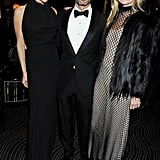 Victoria Beckham and Kate Moss snapped a pic with designer Marc Jacobs.
